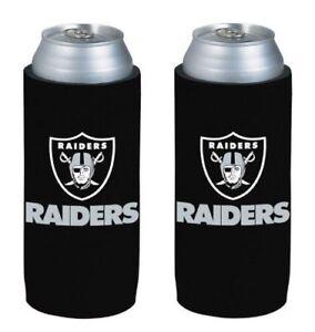 Las Vegas Raiders NFL 2 pack Ultra Slim Can Koozie cooler hugger
