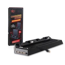 Standfuß mit Lüfter USB-Hub Ladestation Halterung Stand für PS4 & PS4 Slim 2in1