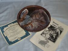 "Bradford Exchange ""Footloose"" Bunny Tales 8"" Collector Plate w/ Coa"