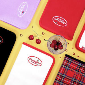 6Ring Binder Cherryme Book Pouch Diary A5 Planner Ivory Lavender Red Black Check