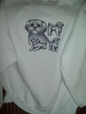 Shih Tzu Sketch Personalized Sweatshirt  Embroidered ALL SIZES