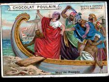 IMAGE CHOCOLAT POULAIN / HISTOIRE ROMAINE Mort de POMPEE à BATAILLE de PHARSALE