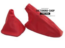 For Bmw E30 1982-91 Gear & Handbrake Gaiter Red Genuine Leather