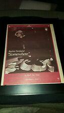 Barbra Streisand Somewhere Rare Original Promo Poster Ad Framed!