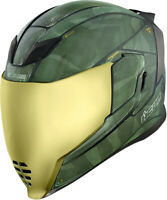 Icon Airflite Battlescar 2 Green Full Face Helmet Adult All Sizes