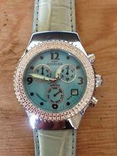 Montre AQUAMARIN Mer Etoile Chronographe Cuir - Diamants contour cadran