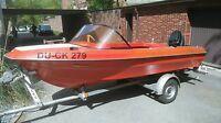Fiberline G15 Motorboot Sportboot Trailer Motor