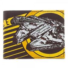 Star Wars Rebel Alliance Millennium Falcon Brown Bi-Fold Wallet ~ Licensed ~ NEW