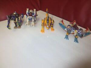 Hasbro Transformers lot of 4 Cheetor/Grimlock/Terrorsaur /Airazor used good