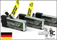 3x Turnigy nano-tech 300mah 1S 45~90C NEU Lipo Akku 3,7V Nine Eagles Solo Pro