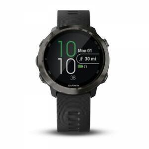 Garmin Forerunner 645 Music Slate Running Watch with Black Band 010-01863-22