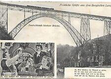 S/W AK NIEMS ~ GRÜßE BERGISCHEN LANDE ~ KAISER WILHELM BRÜCKE ~ LIED ~ UNG 1915