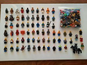 Bulk Job Lot, 73 Assorted LEGO Minifigs + Bonus Bag of Mixed Minifig Parts, Used