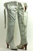 Femmes Bottes Vintage Paysage Talons Hauts Cuissardes Chicas Boots Rivets Disco