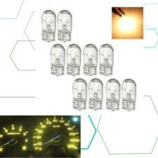10Pcs W5W T10 501 194 Side Marker Light Glass Bulb Car Halogen Bulbs Yellow 12V
