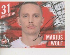 Autogrammkarte Marius Wolf 1. FC Köln 2020/21 20/21 DFB EM WM BVB