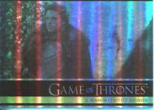 Games Of Thrones Season 2 Foil Parallel Base Card # 21 A Man Without Honor