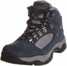 Womens Hi Tec Navy blue Lace up waterproof hiking hikers Walking boots Size 8 42