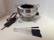 Cuisinart Model CFO-3SS Electric Fondue Pot with forks New w/o box instructions