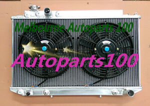 QLD GPI 3 Core Radiator + Two Fans for Toyota Cressida MX83 1989-1993 Auto & MT
