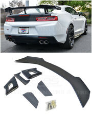 Fits 16-Up Chevrolet Camaro | ZL1 1LE Style PRIMER BLACK Rear Trunk Wing Spoiler