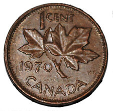 Canada 1970 1 Cent Copper One Canadian Penny Coin