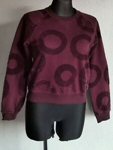 G-Star Raw womens cotton blend long sleeve dark claret sweatshirt size S