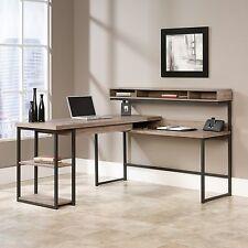 L-Shaped Desk - Salt Oak - Sauder Select Collection (414417)