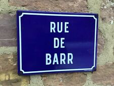 Authentic and vintage French enamelware Street sign Barr Alsace Strasbourg