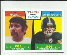 Joe Namath & Ben Roethlisberger 2005 Topps Heritage Then and Now #TN4