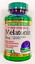 Natures Bounty Melatonin 5mg Softgels, 250ct Bottle -Expiration Date 01-2019-