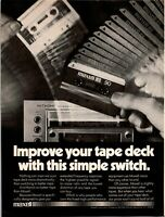 1980 Print Ad Maxell Cassette Tapes ~ High Fidelity BLOWN AWAY in Living Room