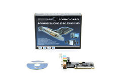 New Genuine Sabrent 6-Channel PCI Sound Card SBT-SP6C