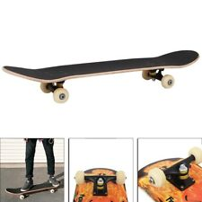 Fire Skull Skateboard Top Stained 31.5in Skateboards Ready To Ride Cool Skate