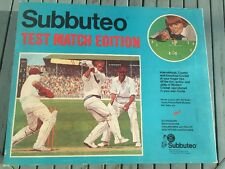 VINTAGE SUBBUTEO TABLE TEST MATCH EDITION CRICKET GAME c1974-75 COMPLETE