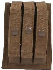 5ive Star Gear Molle Compatible Universal Fit 9mm 3-Magazine Pouch - Coyote