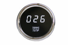 LED Digital Transmission Temperature Gauge White LED w/ Chrome Bezel