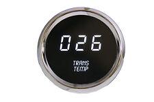 LED Digital Transmission Temperature Gauge White LED w/ Chrome Bezel