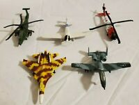 Lot of 5 Maisto DIE CAST PLANES / JETS / HELLICOPTERS - Pre Owned Used