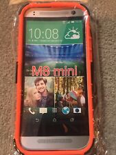 HTC  Orange  Armor Dual Color M 8 One/Mini With Stand Case