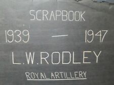 More details for scrapbook 1939 - 1947 of l w rodley, royal artillery in india etc.
