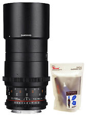Samyang 100mm T3.1 Cine VDSLR UMC Ed Macro Telephoto Full Frame Lens for Nikon
