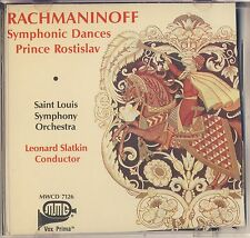Rachmaninov - Slatkin: Symphonic Dances, Prince Rostislav (MMG) Very Good