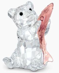 Swarovski Bear with Fish (5536772) Figurine - Brand New