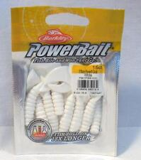 "Berkley Powerbait 3"" White Power Grubs Soft Plastic Package 15ct Fishing Bait"