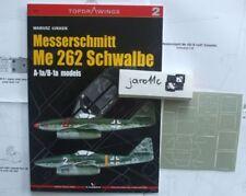 Messerschmitt Me 262 Schwalbe A/B models TopDrawings, KAGERO + Mask Foils