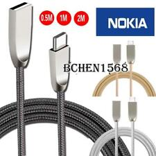 Braided Type C USB-C Charging Phone Data Sync Charger Cable For Nokia 7 / 7 Plus