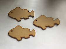 10 x  Wooden Craft Shapes Fish