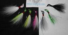 (choose 1) 1/8 oz Wolf Custom Banana Bucktail Jig Flounder Sea Trout Bass Pike