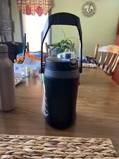 Under Armour Thermos *64 oz* Black Water Bottle Canteen, Plastic w/ flip top lid